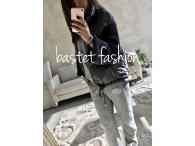 Bastet bunda přechodová šedá, S-XL