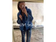 Bastet bunda přechodová modrá, S, XL