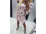 Paparazzi šaty Chanel růžové, S-M