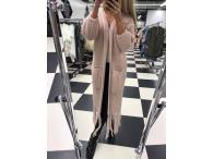 Paparazzi cardigan pletený růžový, M-L