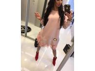 Paparazzi šaty růžové s tylem, M-L