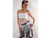 BT Style Miniskirt Flower Design Black