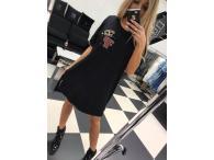 Šaty Paparazzi Crown černé, M/L