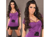 Sexy Shirt 2in1 with Pearls in purple