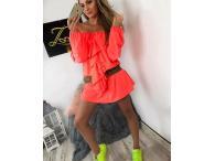 Šaty Claris neonové