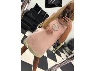 Šaty Fanny růžové, M/L
