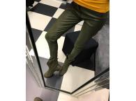 Kalhoty DB z eko kůže zelené, S-XL