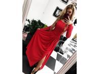 Šaty krajkové Laura červené, XS-L