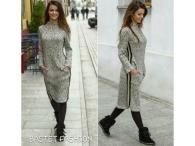 Bastet svetrové šaty, S-M