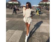 Šaty Shorty šedé, XS-S