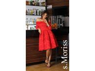 Šaty Scarlett midi červené, M-XL