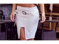 Pouzdrová semišová sukně, S-XL
