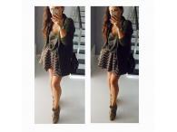 Nabíraná sukně Bella s pruhy, XS-M