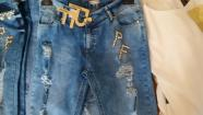 Jeans with letters, L
