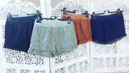 Lace shorts brown, M