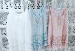 Lace top blue, M-L